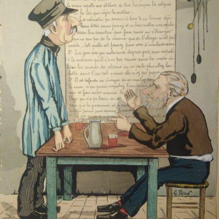 Gravure au pochoir 1880
